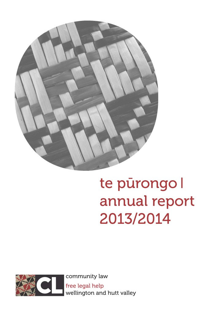 Community Law Wellington and Hutt Valley Annual Report 2013-2014_Page_01